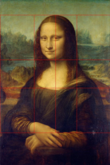 Math and the golden ratio is reflected in Leonardo da Vinci's Mona Lisa.