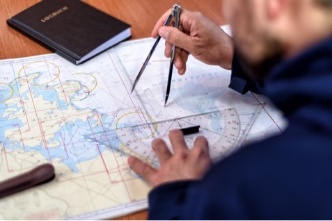 Traditional navigation used a compass and paper charts to determine location and passage. This has largely been replaced by electronic guidance systems using GPS.